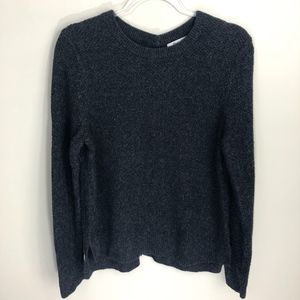 Madewell Backroad Button-Back Gray Sweater L
